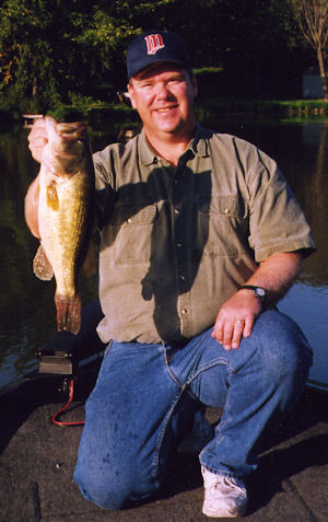 BW with a nice bass - a warm day on Cedar Lake