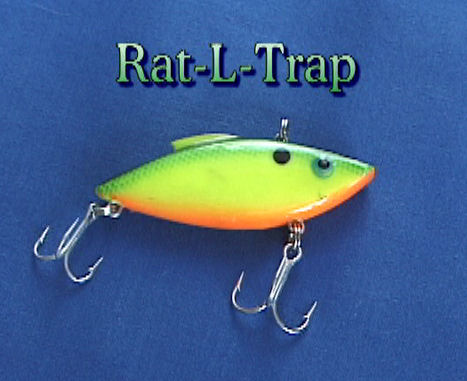 1/4 ounce Rat-L-Trap green-chatruese-orange